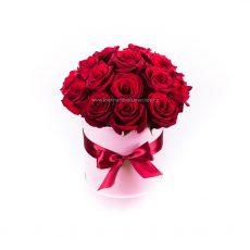 Flower box s 18ks červených růží